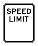 Blank speed limit sign Royalty Free Stock Image
