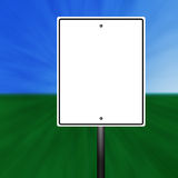 Blank Speed Limit Sign. A blank speed limit sign illustration with a grass and sky background stock illustration