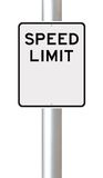 Blank Speed Limit Sign Stock Photos