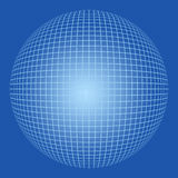 Blank sphere with grid pattern Stock Photography