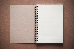 Blank spiral binder notebook Stock Photo