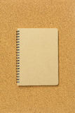 Blank spiral binder notebook Royalty Free Stock Images