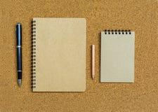 Blank spiral binder notebook Stock Images