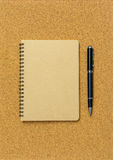 Blank spiral binder notebook Stock Photography