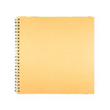 Blank spiral brown cover book paper Royalty Free Stock Photography