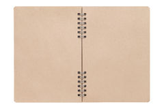 Blank spiral brown notebook Royalty Free Stock Image