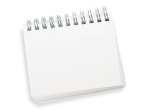 Blank spiral memo pad isolated on white. Stock Image