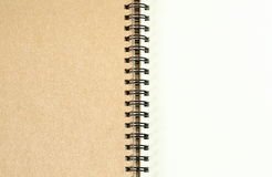 Blank spiral note book background. Stock Photo