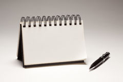 Blank Spiral Note Pad and Pen. On a Gradated Background Stock Photography