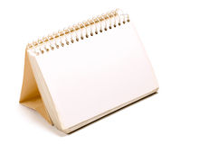 Blank spiral notebook 2. Blank spiral notebook sheet, calendar style Royalty Free Stock Photos