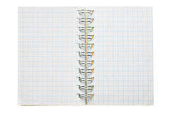 Blank spiral notebook Stock Photo