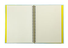 Blank spiral notebook isolated on white Royalty Free Stock Photography