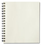 Blank spiral notebook. Isolated on white background Royalty Free Stock Photos