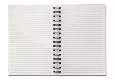 Blank spiral notebook Stock Photos