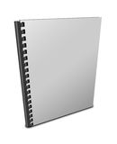 Blank spiral notebook. Isolated on white background Royalty Free Stock Photography