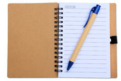 Blank Spiral Notebook. Isolated on a White Background with clipping path Stock Images
