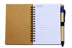 Blank Spiral Notebook. Isolated on a White Background with clipping path Royalty Free Stock Image