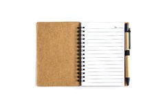 Blank Spiral Notebook isolated on white Stock Photography