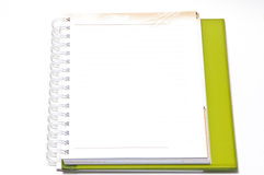 Blank Spiral Notebook with Line Paper Isolated on a White Backgr Stock Photography