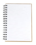 Blank spiral notebook open on white background Royalty Free Stock Photography