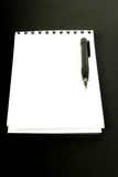 Blank spiral notebook and pencil Royalty Free Stock Images