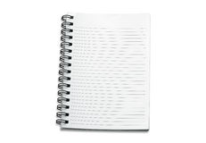 Blank spiral notebook on white background Royalty Free Stock Photo