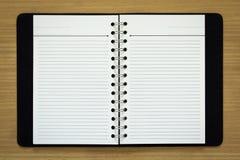 Blank spiral notebook Stock Photo
