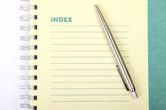 Blank spiral notepad Royalty Free Stock Photo