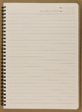Blank  spiral notepad notebook. Blank realistic spiral notepad notebook Royalty Free Stock Photography