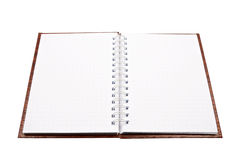 Blank spiral notepad Royalty Free Stock Images
