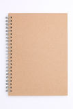 Blank spiral notepad. On white background Royalty Free Stock Images