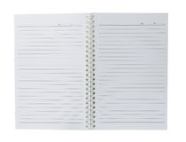 Blank spiral notepad on white Stock Photo