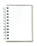 Blank spiral notepad on white Stock Images