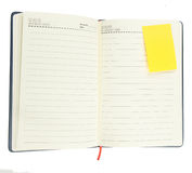 Blank spiral notepad on white Royalty Free Stock Image
