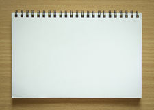 Blank spiral notepad Stock Images