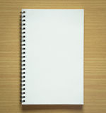 Blank spiral notepad Royalty Free Stock Photos