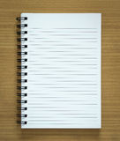 Blank spiral notepad Stock Image
