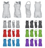 Blank sport top and shorts template set. Royalty Free Stock Photography