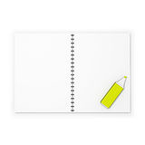 Blank spring copybook with a marker Royalty Free Stock Photo