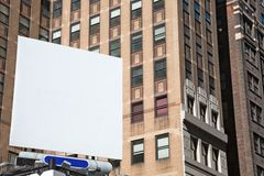 Blank square billboard in NYC, horizontal composition Stock Photo