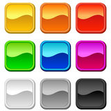 Blank square buttons Stock Photography