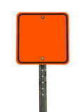 Blank Square Construction Sign Stock Photography
