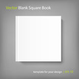 Blank square cover book template on grey background Stock Images