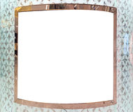 Blank Square Frame on Abstract White Wall for Exhibit Things or Input Text Stock Image