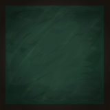 Blank square green chalkboard Royalty Free Stock Images