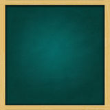 Blank square green chalkboard Royalty Free Stock Image