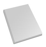 Blank square hardcover album template. On white background Stock Image