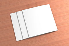 Blank square Magazine on the wooden Background Stock Images