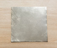 Blank square metal plate Stock Photo
