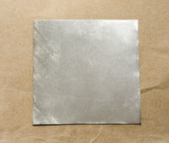 Blank square metal plate Stock Photography